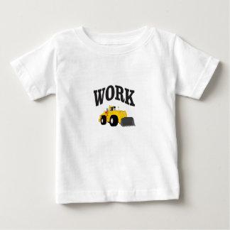 chargeur jaune de travail t-shirt pour bébé