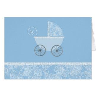 Chariot de bleu de Paisley Cartes De Vœux