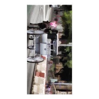 Chariot de cheval sur des rues de Melbourne Photocartes Personnalisées