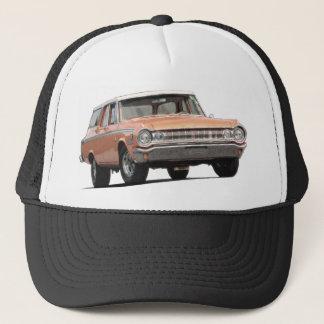 Chariot de station de Dodge de l'orange 1964 Casquette