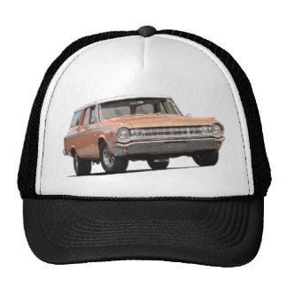 Chariot de station de Dodge de l'orange 1964 Casquette Trucker