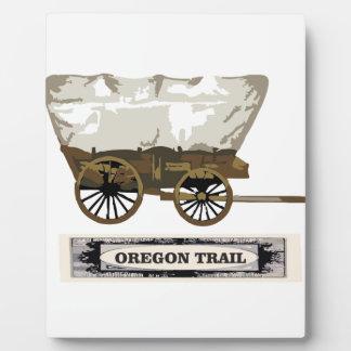 chariot de traînée de l'Orégon occidental Plaque Photo