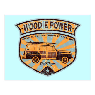 Chariot de Woodie Carte Postale