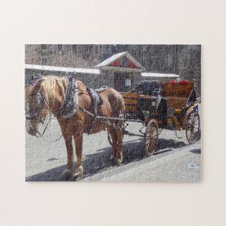 Chariot Montréal de cheval Puzzle