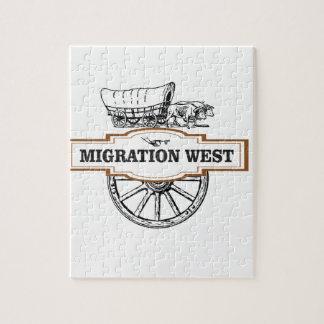 chariots occidentaux de migration puzzle