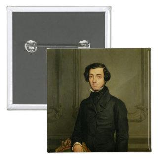 Charles-Alexis-Henri Clerel de Tocqueville 1850 Badge Carré 5 Cm