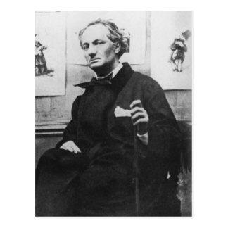 Charles Baudelaire avec les gravures, c.1863 Carte Postale