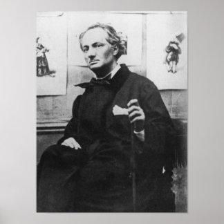 Charles Baudelaire avec les gravures, c.1863 Poster