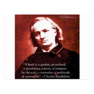 """Charles Baudelaire """"un livre est"""" des cadeaux de c Carte Postale"""