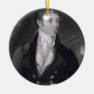 Charles Brockden Brown (1771-1810) gravé par Joh Ornement Rond En Céramique