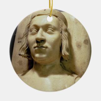 "Charles V (les 1338-80) effigies ""sage"" de tombe, Ornement Rond En Céramique"