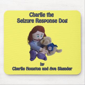 Charlie le tapis de souris de chien de réponse de