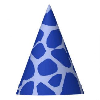 Charme animal de jungle bleue de girafe moderne chapeaux de fètes