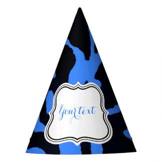 Charme animal de mode de zèbre noir et bleu chapeaux de fètes