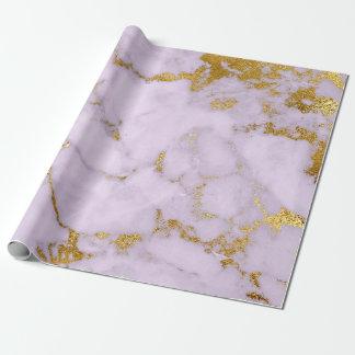 Charme brillant de marbre gris en pastel d'or papier cadeau noël