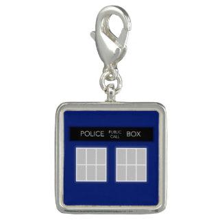 Charme britannique de boîte de police breloque avec photo