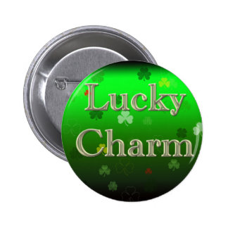 Charme chanceux badge rond 5 cm