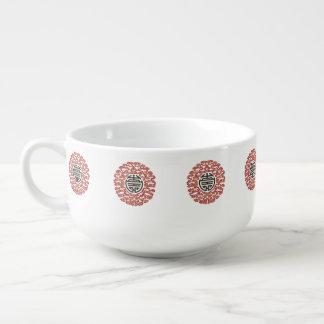 Charme chinois chanceux mug à potage