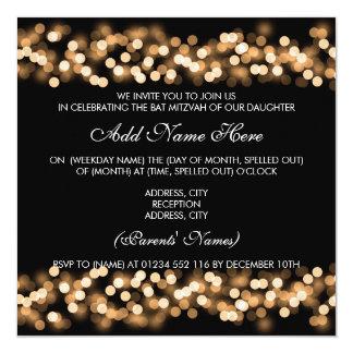 Charme de Hollywood d'or de bat mitzvah Carton D'invitation 13,33 Cm