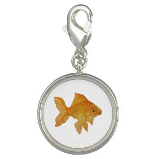 Charme de poisson rouge d'aquarelle breloque