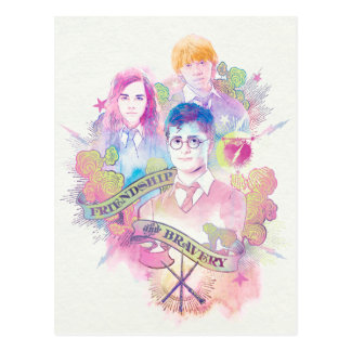 Charme | Harry, Hermione, et Ron Waterc de Harry Carte Postale