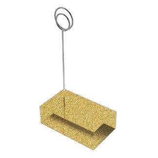 Charme métallique d'or d'aluminium de Faux Porte-cartes De Table