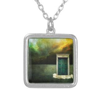 Charme rêveur de porte pendentif carré