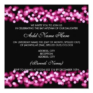 Charme rose de Hollywood de bat mitzvah Carton D'invitation 13,33 Cm