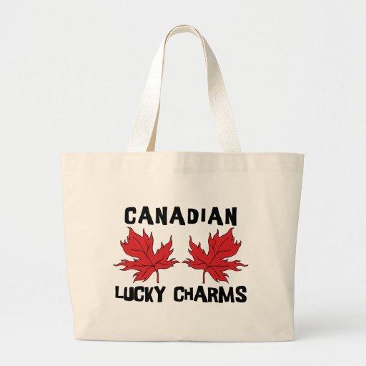 Charmes chanceux canadiens sacs fourre-tout