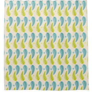 Chartreuse et Aqua laisse le rideau en douche