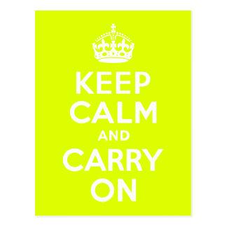 Chartreuse gardez le calme et continuez carte postale