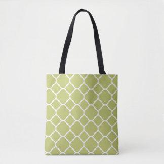Chartreuse moderne, sac fourre-tout à motif de
