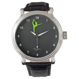 Chartreuse, vert de néon montres bracelet