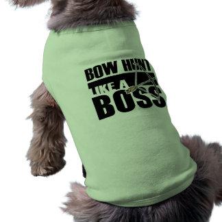 Chasse à arc comme un patron Funny gif Tee-shirts Pour Chien