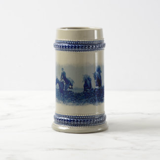 Chasse à Fox vintage Tankard en céramique Tasse
