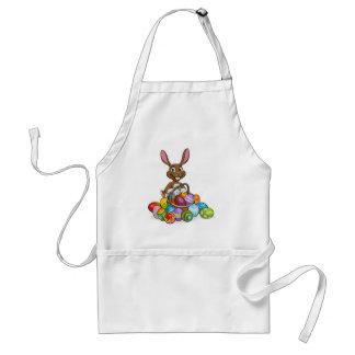 Chasse à oeufs de lapin de Pâques Tablier