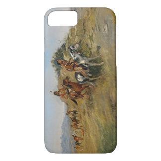 Chasse de Buffalo, 1891 (huile sur la toile) Coque iPhone 8/7