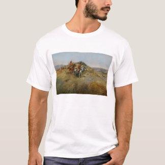 Chasse de Buffalo, 1891 (huile sur la toile) T-shirt