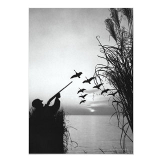 Chasse de canard d'homme carton d'invitation  12,7 cm x 17,78 cm