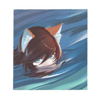 Chasse de Fox mignonne de Kawaii pour la proie Bloc-note