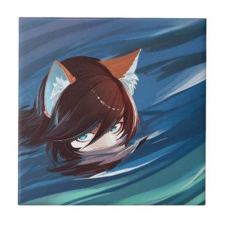 Chasse de Fox mignonne de Kawaii pour la proie Petit Carreau Carré