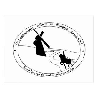 Chasse de la carte postale de moulins à vent
