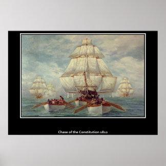 Chasse de l'affiche 1813 de constitution