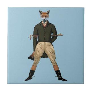 Chasse de renard vintage petit carreau carré