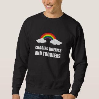 Chasse des rêves et des enfants en bas âge sweatshirt