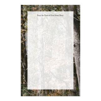 Chasse/pêche de nature de camouflage de Camo Papier À Lettre Customisable