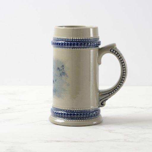 Chasse vintage Stein en céramique de Buffalo Tasse À Café