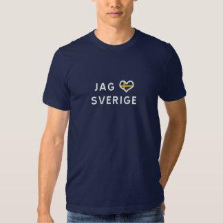 Chasser älskar à des Sverige - I Sweden love T-shirts