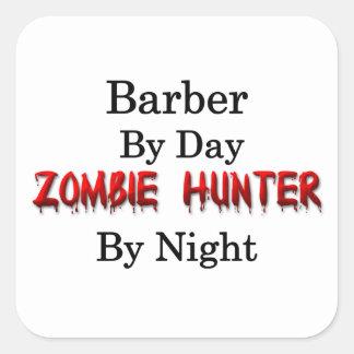 Chasseur de coiffeur/zombi sticker carré