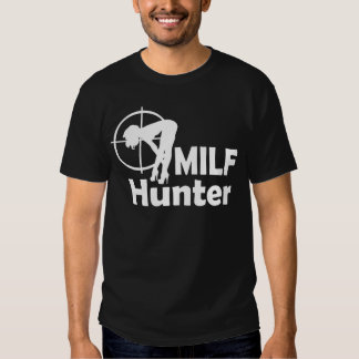 Chasseur de MILF (texte blanc) T-shirt